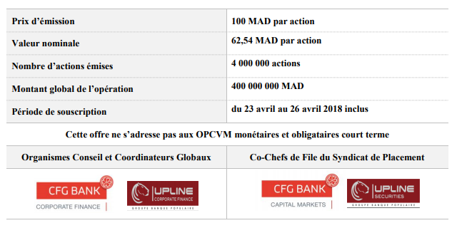 L'introduction d'Immorente se fera en avril — Bourse de Casablanca